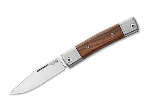 LionSteel BestMan I Santos Taschenmesser aus M390-Stahl, Titan und Santosholz in der Farbe Braun - 17 cm