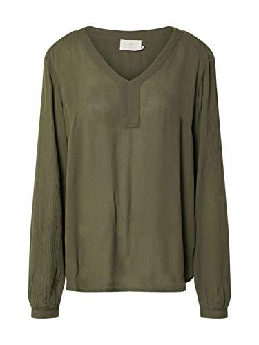 KAFFE Damen Bluse dunkelgrün 38 (M)
