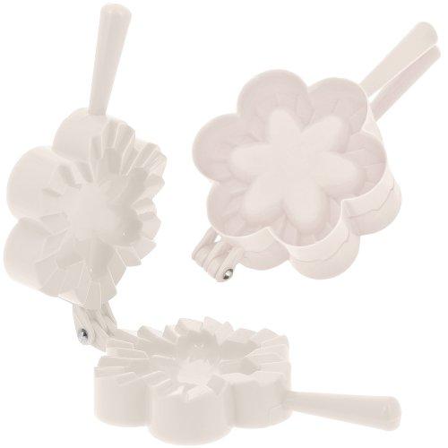 Promobo - Emporte pièce Fabrique à Chausson Moule Cuisine Forme Fleur Blanc