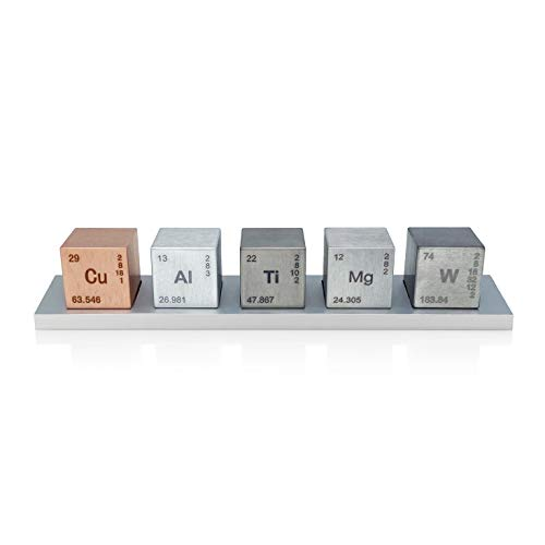 Element 1' Cube Set (Tungsten/Copper/Titanium/Aluminum/Magnesium)
