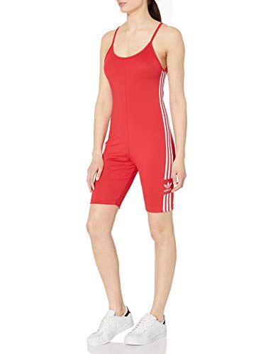 adidas Originals Women's Cycling Suit, Lush Red/White, L