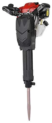 Bluetooth earphone 1700W Concrete Breaker, 52CC Gasoline Demolition Hammer Drill, 2 Stroke Petrol Heavy Duty Jack Hammer Drill for Concrete Walls Wood Hand-held Rock Drill with 360° Rotary