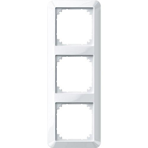 Merten 389319 1-M-Rahmen, 3fach, polarweiß glänzend