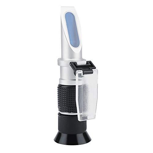 Zucker Refraktometer, Professional 0~90% Brix Refraktometer Handheld Bier Milch Fruchtsaft Zucker Tester Meter für Zucker, Lebensmittel, Obst, Getränke Honig