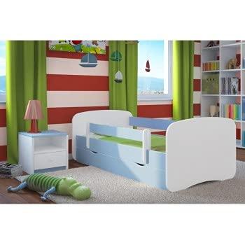 Children's Beds Home - Cama individual BabyDreams - Para Niños Niños Niño Niño Junior - Babydreams - 160x80, Azul, No, Colchón de Espuma de 8 cm / Fibra de Coco
