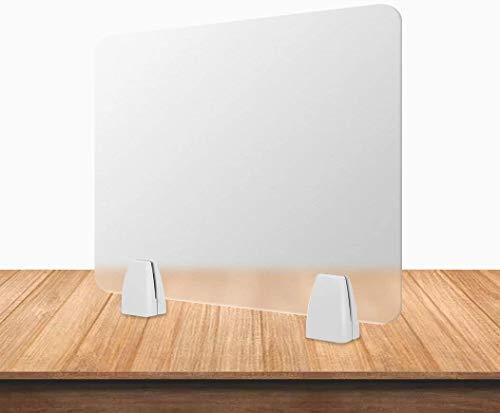 Lavago 40,6 cm x 40,6 cm (L x B) mattierte Schreibtisch-Trennwand, Trennwand für Studenten, Call-Centers/Büros/Brarien/Klassenzimmer/Bibliothek, Acryl-Sichtschutztafel (40 x 40 cm inkl. Clip)