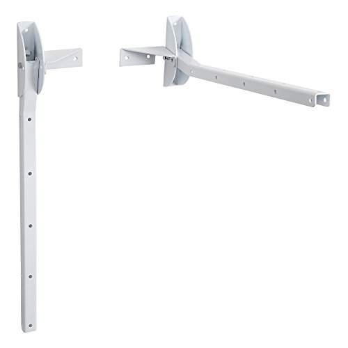 Sauvic Blanco TENDEDERO DE Pared ABATIBLE, Hierro, 54x14.5x14 cm