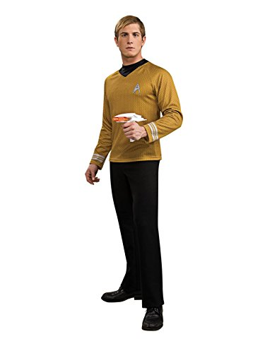 Rubies 3 889120 L - Star Trek Deluxe Shirt, Größe L, Gold