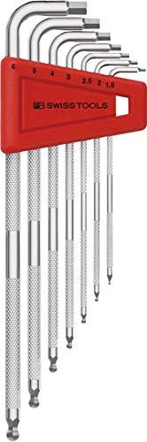 ピービースイスツールズ(PB Swiss Tools) ロング六角棒レンチセット ピービースイスツールズ 六角レンチ 3212LH-6-BAG ローレット付ロング六角棒レンチ 専用巾着袋