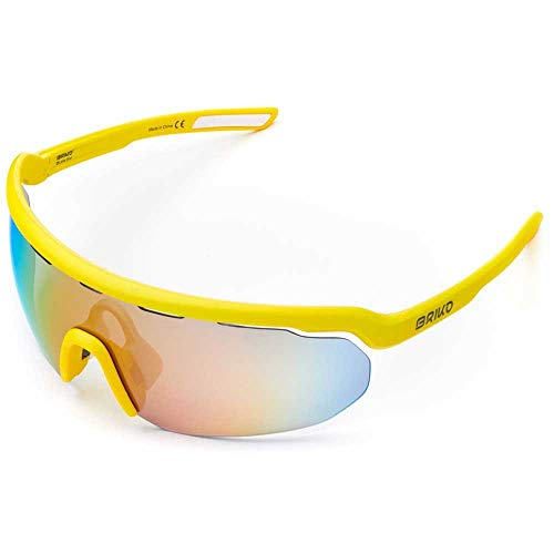 Briko Stardust Sonnenbrille für Radsport, Unisex, Erwachsene, School Bus, One