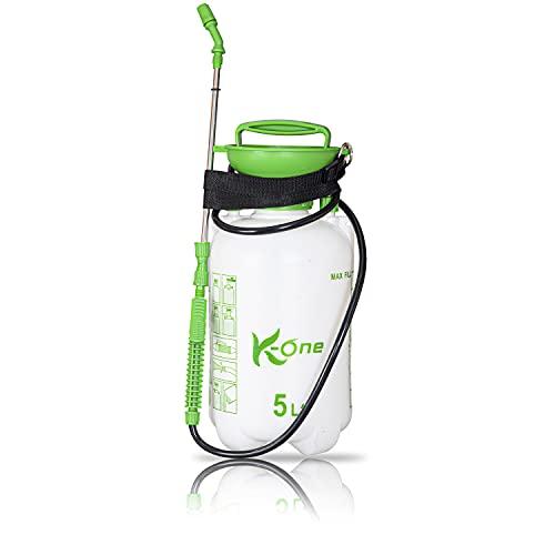 K-One 5L Garden Pump Action Pressure Sprayer For Water Fertilizers Pesticides Weed Killer Pressure Relief Valve