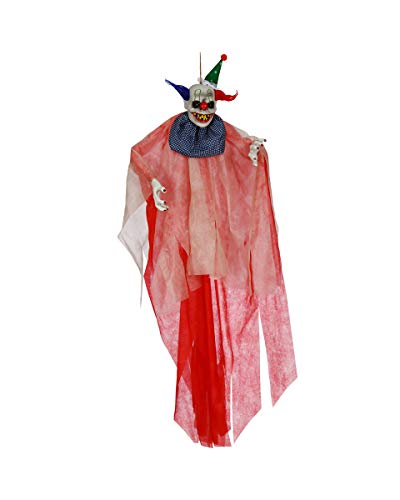 Horror-Shop Espeluznante Figura De Payaso De Circo Colgando 175 Cm