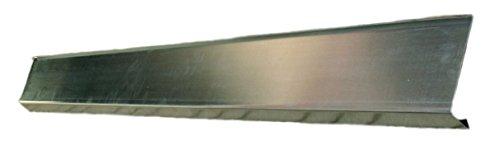 Rinneneinlaufblech Titanzink 4 Meter mit Wasserfalz in den Größen 200 und 250-er (klein)
