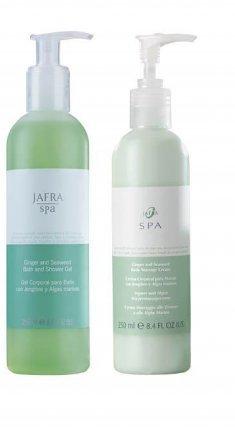 Jafra SPA Ingwer- und Algen Duschgel und Körpermassagecreme