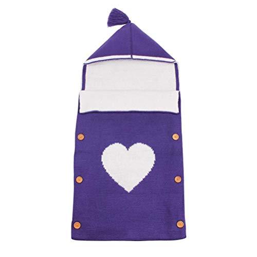 Mariisay Baby Cute Blanket Wrap Sac De Chic Casual Couchage Enfants Toddler Sleep Sack Poussette Wrap (Beige) Élégant Confortable Maison Moderne Style (Color : Lila, Size : Size)