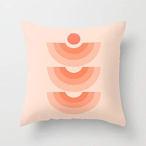 PPMP Medeltida århundradet mönster örngott minimala linjer abstrakt dekorativt kuddöverdrag kram örngott A15 45 x 45 cm 2 st
