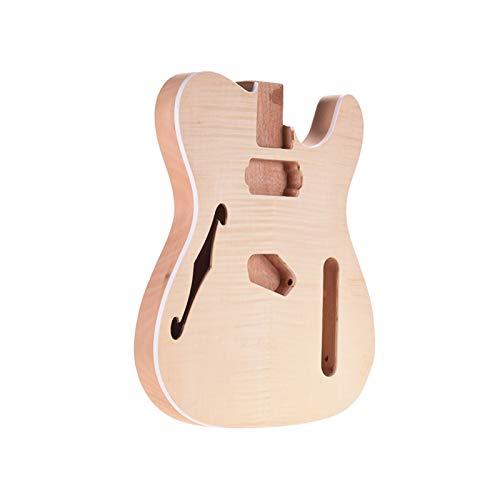 DIY Componentes guitarra Cuerpo Sin terminar en blanco guitarra de cuerpo de madera de caoba Guitarra barril for TELE del estilo de la guitarra eléctrica de piezas de bricolaje