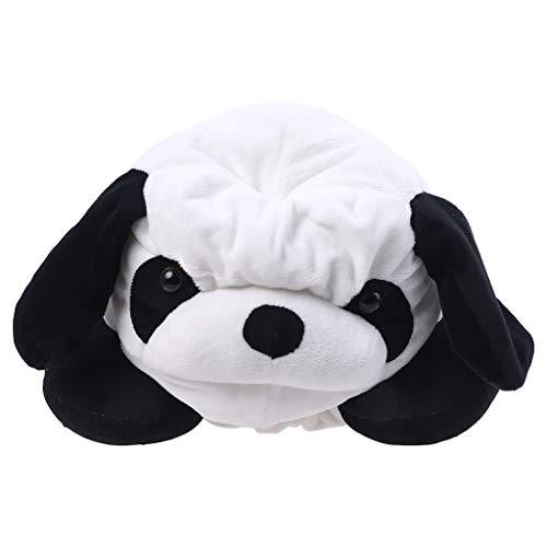 XUNXI Sombrero de Felpa, Almohada para el Cuello en Forma de U 2 en 1 con cojín con Capucha Relleno de Sombrero de Felpa de Panda de Dibujos Animados
