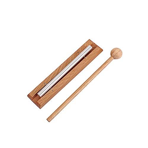 Campana de meditación Alnicov Solo Chime con mazo Instrumento de percusión para oración Yoga Energías Orientales Curación o Gestión de Aula de Profesores
