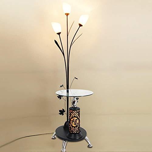 HZYDD Lámpara de pie de la sala de estar creativa de moda simple moderna mesa de café piso lámpara de dormitorio mesita de noche lámpara de mesa vertical lámparas de iluminación