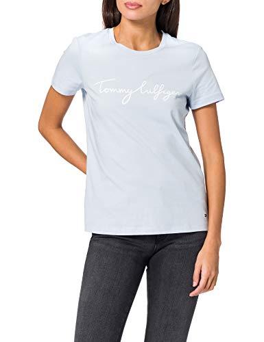 Tommy Hilfiger Crew Neck Graphic tee Camiseta sin Mangas para bebs y Nios pequeos, Azul, XXL para Mujer