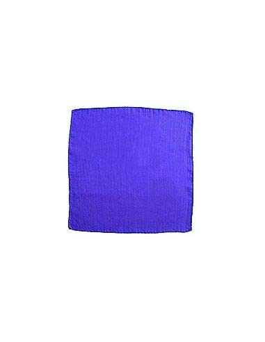 100% Soie Foulard Bleu (22,5 x 22,5 cm)