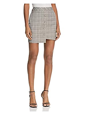 J.O.A. Womens Printed Asymmetric Mini Skirt