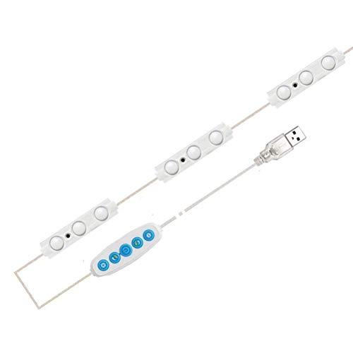Terzsl Luz de espejo LED de 200 pulgadas, regulable, con 45 ledes, impermeable, 6500 K, luz blanca para maquillaje, mesa y espejo de baño