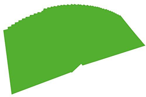 folia 6455 - Tonpapier grasgrün, DIN A4, 130 g/qm, 100 Blatt - zum Basteln und kreativen Gestalten von Karten, Fensterbildern und für Scrapbooking