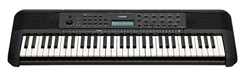 YAMAHA PSR-E273 - Teclado digital, Función de aprendizaje, 61 teclas, 143 estilos automáticos, negro