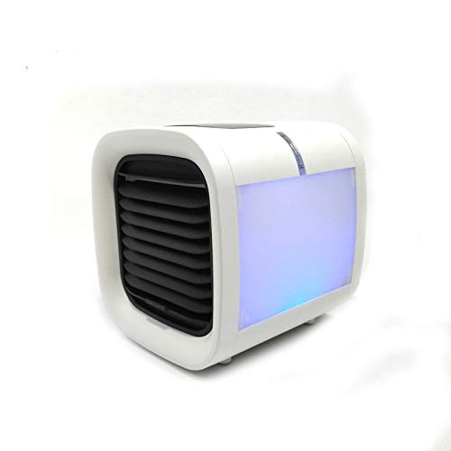 Mini Arctic Air Cooler- Mobiles Mini-Klimagerät mit 3 Stufen LED in 5 Farben, Büro, Camping usw. Wassertank für 8h, inkl. Luftfilter