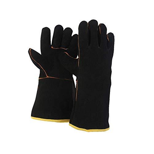 FZTEY welding Gloves (14Inc, Black)