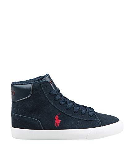 Ralph Lauren Polo Sneakers Alta in CAMOSCIO Blu (32 EU)