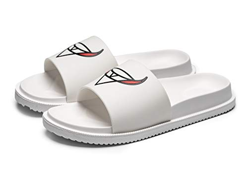 PAGCURSU Leichte Slip-On Slide Sandale für Herren Athletic Comfort Herren Sliders Summer Beach Pool Shoes Outdoor Schuhe Weiß 42