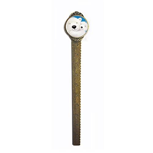 Bear Love - Marcador de marcapáginas con cadena larga hecha a mano para mujer, PU287