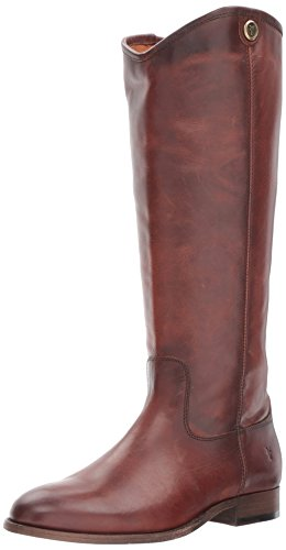 Frye Women's Melissa Button 2 Riding Boot, Redwood Extended Calf, 8.5