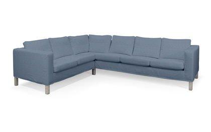 Bezug für IKEA KARLANDA Ecksofa, kurzer Bezug, rechts in FLORENZ Chevy blau-beige