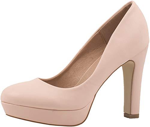 Elara Jumex Damen High Heels Schuhe Plateau Pumps Chunkyrayan E22321-Pink-40