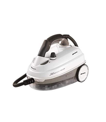 Ariete 4142 - Limpiadora de Vapor Deluxe 1.6 L, 1500 W, 5 Bars, regulador Vapor, 13 Accesorios de Limpieza, autonomía 55 min, Cable 6 m, indicador Luminoso, tapón y Pistola Seguridad, Blanco Gris