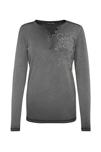 SOCCX Damen Serafino-Shirt mit Rücken-Artwork