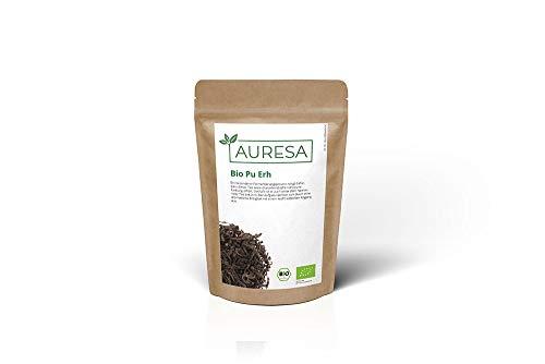 AURESA Bio Pu Erh | Eine Spezialität aus China | Fermentierter Tee | Aufgrund seiner Farbe auch als roter Tee bekannt