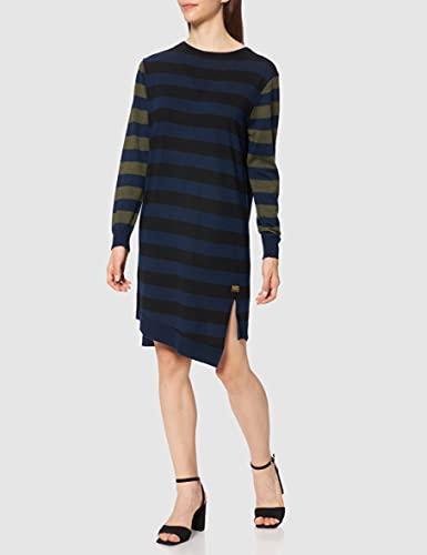 G-STAR RAW Cross Knit Vestido Casual, Multicolor Luna Blue Stripe C950-c733, M para Mujer