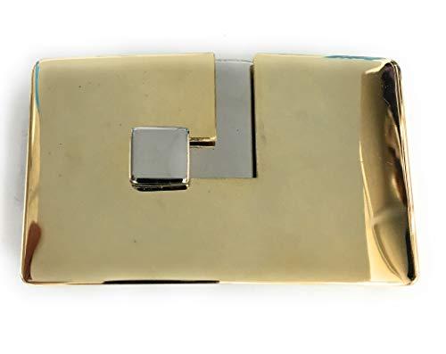 Funda Lanvin Paris–belt-buckle para women-polished-antique gold-and-silver para 2'cinturón