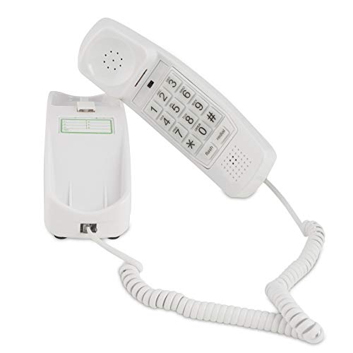 Trimline Corded Phone - Phones For Seniors - Phone for hearing impaired - Choctaw White - Retro Novelty Telephone - An Improved Version of the Princess Phones in 1965 - Style Big Button (Renewed)