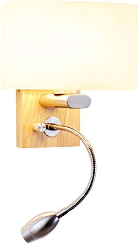 Wandleuchte Moderne Wandleuchte Leselampe Studie einfach mit Plug Schlafzimmer Bedside LED Wandleuchte Strobe LED Leselampe (Farbe  A)