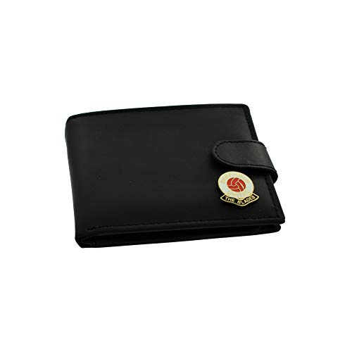 GIFTSEARCH UK Sheffield United FC 'The Blades' Football Club Genuine Black Leather Wallet