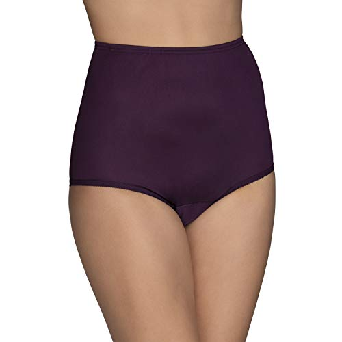 Vanity Fair Women's Perfectly Yours Ravissant Tailored Nylon Brief Panty - Size Large / 7 - Sangria