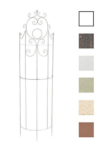 CLP Eisen-Rankgitter Lavendel im Landhausstil I Rankzaun mit stilvollen Verzierungen I erhältlich Antik Weiß