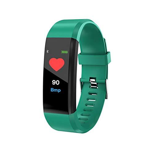YNLRY Reloj de pulsera inteligente para hombres y mujeres 115 Plus pulsera inteligente fitness Tracker presión deporte reloj monitor banda (color: 115 Plus verde)