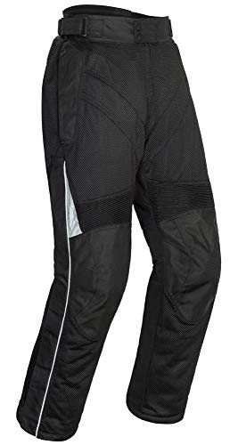 Tourmaster Venture Air 2.0 Men's Textile Motorcycle Pant (Black, Large)